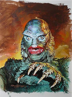 the creature from the black lagoon by basil gogos
