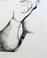 muhammad ali, (fist) by andy warhol