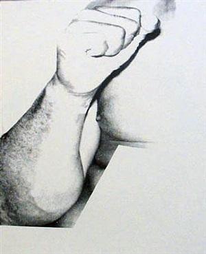 muhammad ali, (fist) by andy warhol