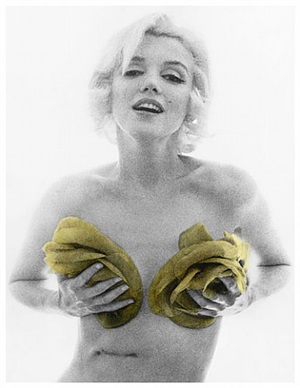 marilyn monroe, from the last sitting (yellow roses) by bert stern