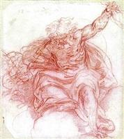 jupiter hurling a thunderbolt by simone cantarini