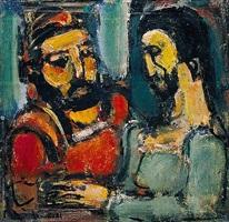 christ et docteur by georges rouault