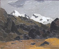 welsh mountains by sir kyffin williams