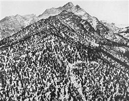lone pine peak, sierra nevada, ca by ansel adams