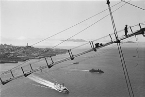 the catwalk showing incline near top of tower by peter stackpole
