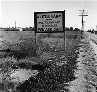 real estate sign, riverside county, ca march by dorothea lange