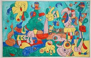 ubu roi: le banquet by joan miró