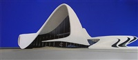 the baku culture center-day view by zaha hadid