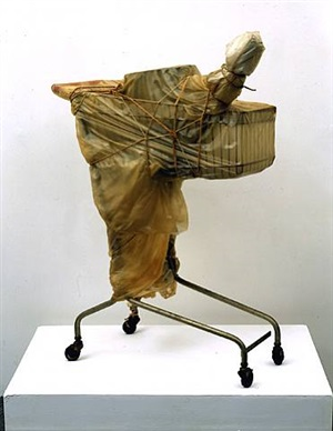 packed supermarket cart by christo and jeanne-claude