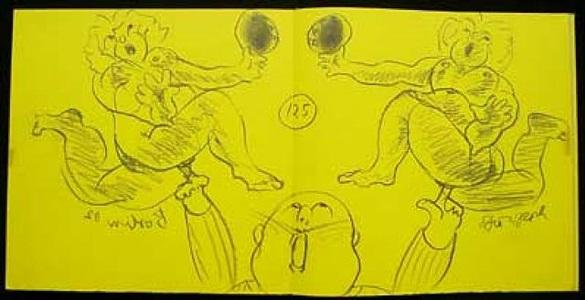 original-zeichnung by dieter roth