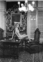 charlotte rampling at the hotel nord pinus ii, arles by helmut newton