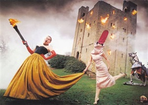 alexander mcqueen and isabella blow, burning down the house by david lachapelle