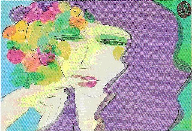 portrait de femme by walasse ting