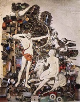 apollo and diana, after lucas cranach (pictures of junk) by vik muniz