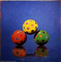 three ball combination, orange, yellow, green by john gibson