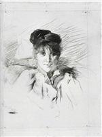 portrait de femme by henri de toulouse-lautrec