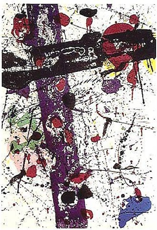 """untitled"" from the portfolio eight by eight to celebrate the temporary contemporary by sam francis"