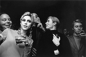 andy warhol, edie sedgwick and entourage, new york by steve schapiro