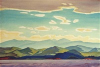 taos mountain in spring by emil james bisttram