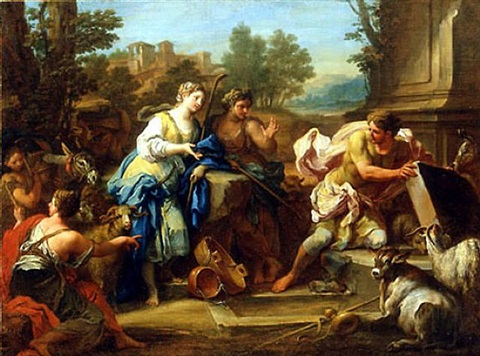 jacob and rachel at the well by sebastiano conca
