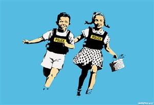 jack & jill by banksy