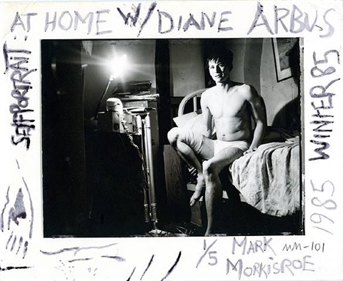 self portrait at home with diane arbus by mark morrisroe