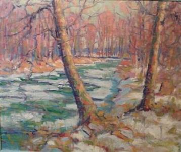 melting stream by john william bentley