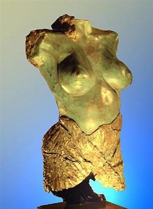 female nude torso by yossi barel