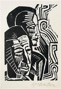 two heads (zwei kopfe) by max pechstein