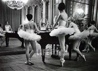 the parisians: ballerinas around piano, opera de paris by alfred eisenstaedt