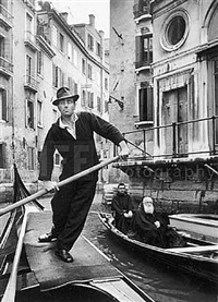 gondolas, venice, italy by alfred eisenstaedt