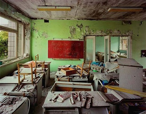 "chernobyl. classroom in kindergarten #7, ""golden key,"" pripyat © robert polidori/courtesy edwynn houk gallery, new york by robert polidori"