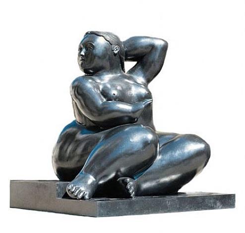 donna seduta (piccola donna su gradino) by fernando botero
