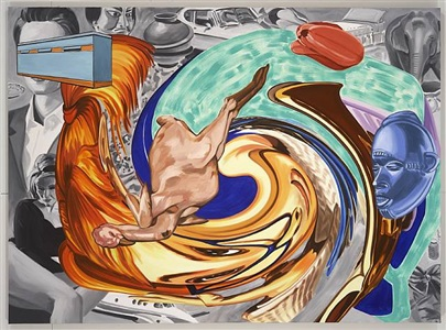 girl reading by david salle