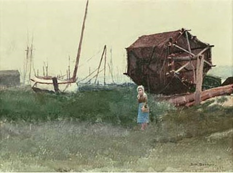 fisher girl, nantucket by dennis miller bunker