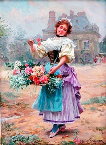 the flower girl by louis marie de schryver