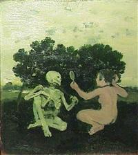 woman and skeleton, c. 1967 by albert york