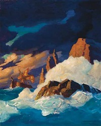 storm on the firth of clyde by newell convers wyeth