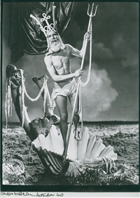 christmas card 1940 - self portrait as neptune by angus mcbean
