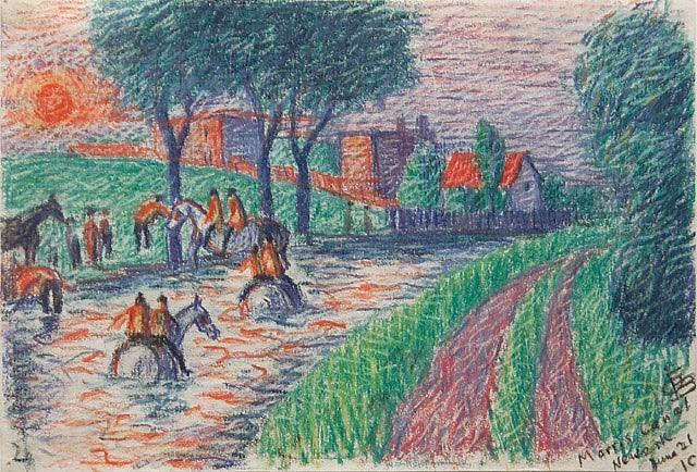 morris canal newark, nj by oscar florianus bluemner