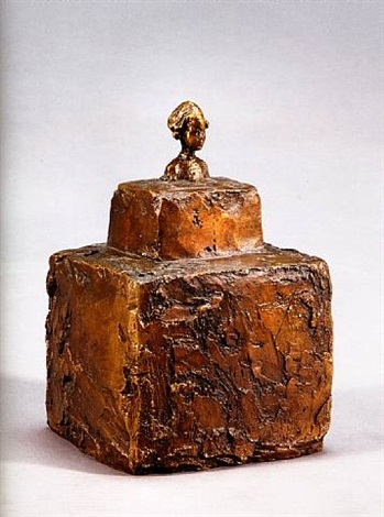 petit buste de silvio sur double socle by alberto giacometti