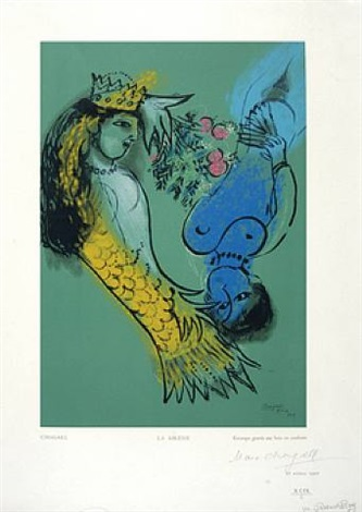 la sirene by marc chagall