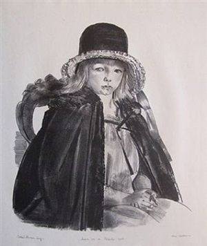 jean in a black hat by george wesley bellows