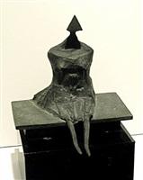 miniature sitting woman (c87) by lynn chadwick