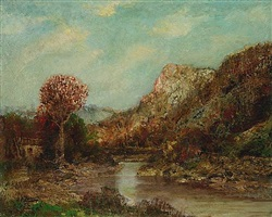river in a landscape by ralph albert blakelock