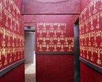 red and gold corridor, haunted graveyard by lisa kereszi