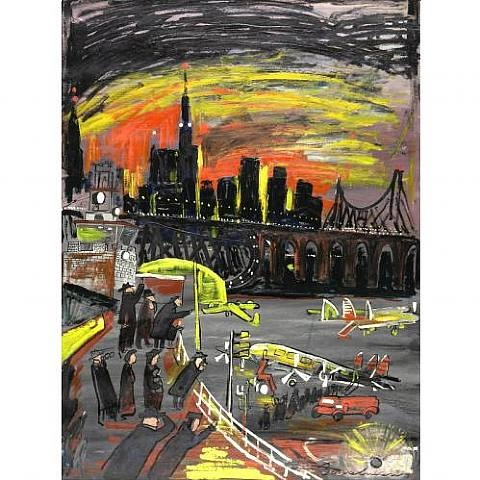 new york airport by ludwig bemelmans
