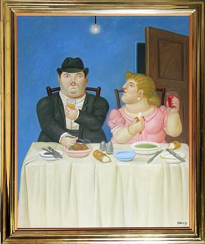 the dinner by fernando botero