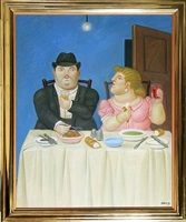 the dinner by fernando botero