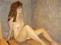 seated figure by john deandrea